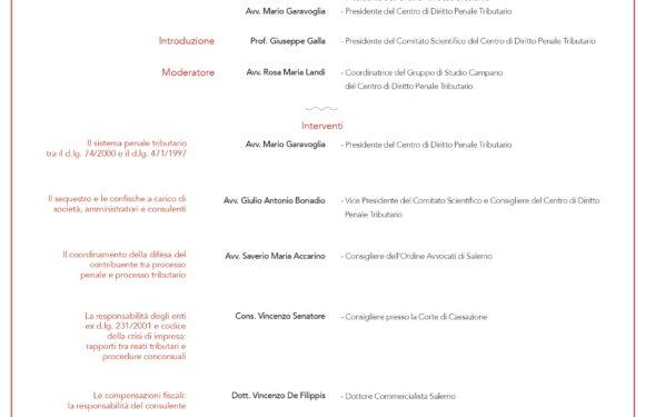 WEBINAR PER TRIBUTARISTI PENALISTI dal Centro Studi e COA di Salerno – 10 giugno 2021 dalle 15,30